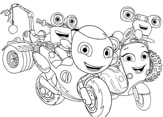 Disegni Da Colorare Rai Yoyo.Ricky Zoom Disegni Da Stampare Colora Ricky E I Moto Amici Gbr