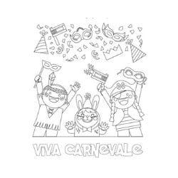 Disegni Maschere Di Carnevale Da Colorare E Stampare Per Bambini Gbr