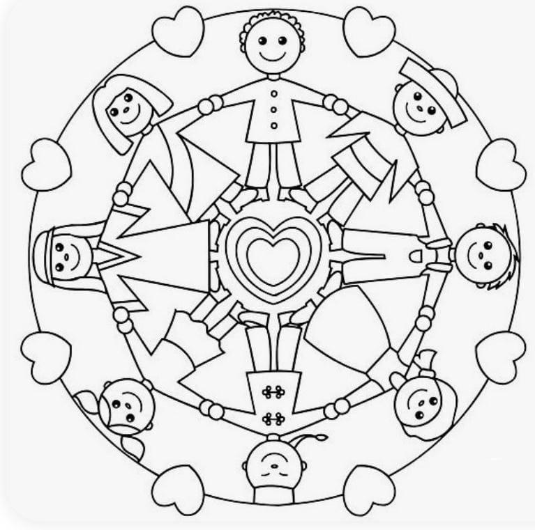 Mandala Per Bambini Da Colorare E Stampare Gratis Gbr