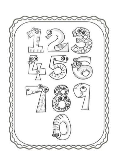 Disegni Da Colorare E Stampare Con I Numeri.Numeri Da Colorare E Stampare In Pdf A4 Per Bambini Da 1 A 10 Gbr