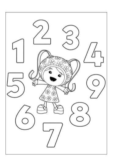 Numeri Da Colorare E Stampare In Pdf A4 Per Bambini Da 1 A 10 Gbr