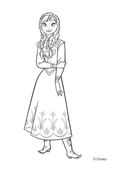 Personaggi Di Frozen Da Colorare.Disegni E Immagini Frozen Da Colorare Stampa Pdf A4 Gratis Gbr
