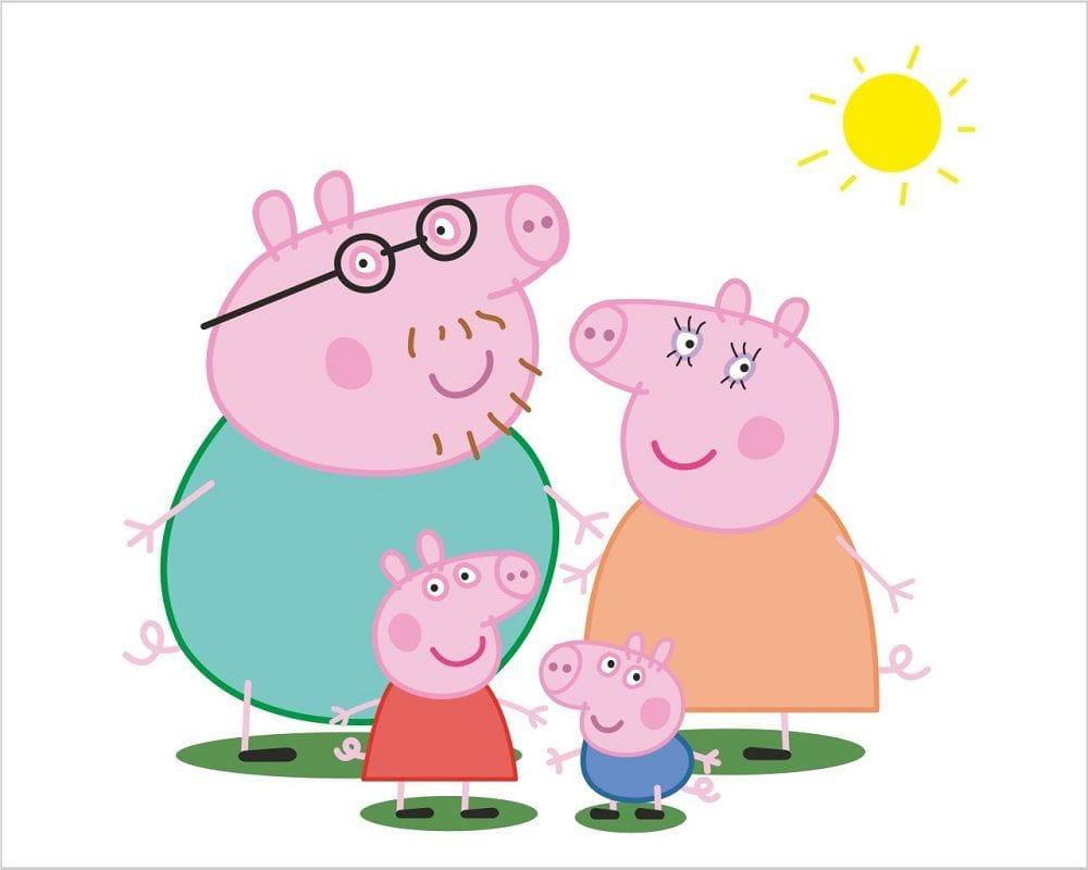 Peppa Pig Da Colorare Stampa Immagini In Pdf A4 In Bianco E Nero Gbr