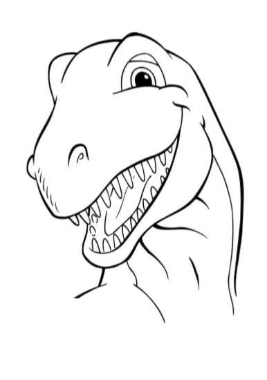 T Rex Tirannosauro Disegni Da Stampare E Colorare Scarica Pdf A4 Gbr
