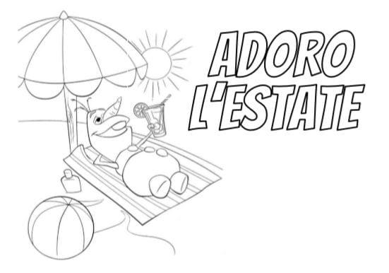 Disegni Da Colorare In A4.Scritta Estate Da Colorare Per Bambini Pdf A4 Immagini Gbr