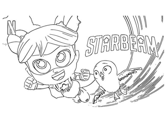 Starbeam Disegni Da Colorare Per Bambini Netflix Cartone Pdf A4 Gbr